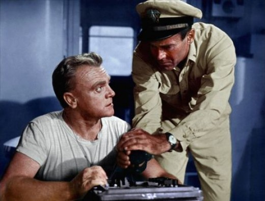 James Cagney and Henry Fonda in 1955's Mister Roberts