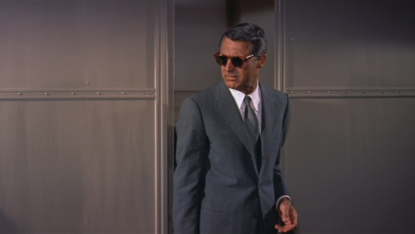 Cary Grant in Alfred Hitchcock's North by Northwest (1959).