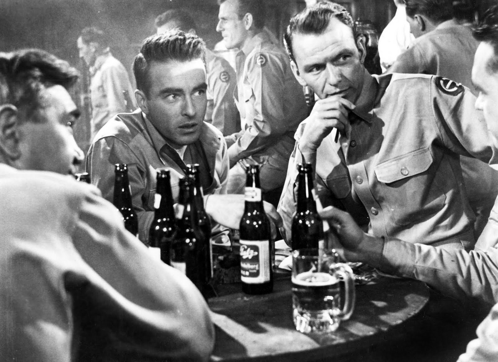 Montgomery Clift and Frank Sinatra in 1953's From Here To Eternity