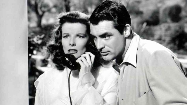 Katharine Hepburn and Cary Grant in The Philadelphia Story (1940)