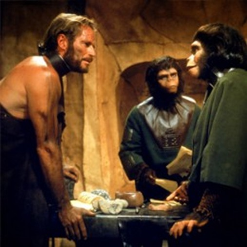 Charlton Heston in 1968's Planet of the Apes