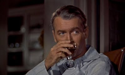 James Stewart in Alfred Hitchcock's Rear Window (1954).