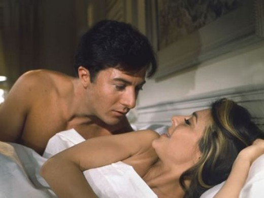 Dustin Hoffman and Anne Bancroft in 1967's The Graduate