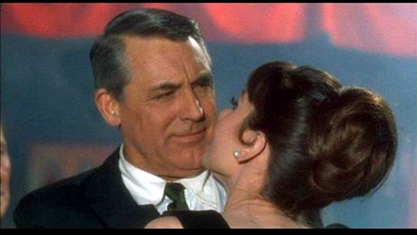 Cary Grant and Audrey Hepburn in 1963's Charade. Grant has the most $100 million movies with 29