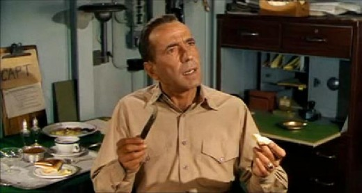 Humphrey Bogart in his biggest box office hit 1954's The Caine Mutiny