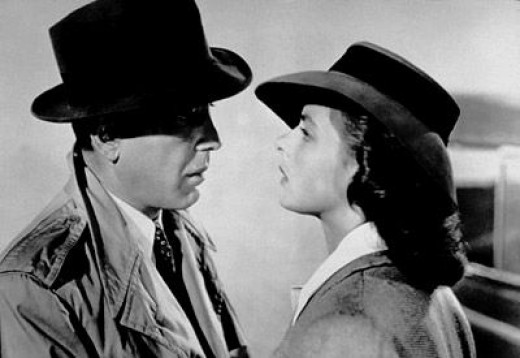 Humphrey Bogart and Ingrid Bergman in one of the best movies ever made....Casablanca.