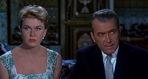 Doris Day and James Stewart in 1956's The Man Who Knew Too Much