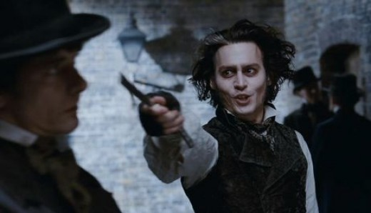 Johnny Depp in 2007's Sweeney Todd