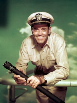 Henry Fonda as Mr. Roberts....a role he played on stage and then in the classic 1955 movie.