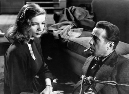 Lauren Bacall and Humphrey Bogart in 1946's The Big Sleep.