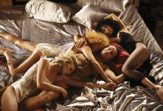 Michelle Pfeiffer, Susan Sarandon, Jack and Cher in 1987's Witches of Eastwick