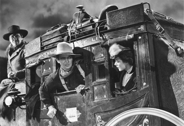 John Wayne in Stagecoach. Stagecoach was Wayne's big break. Stagecoach was his first of many box office hits.
