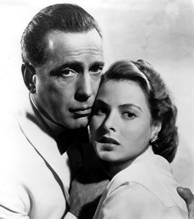 Humphrey Bogart and Ingrid Bergman in 1942's Casablanca...one of the best movies ever made.