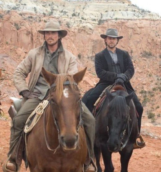Christian Bale and Russell Crowe in 2007's 3:10 to Yuma