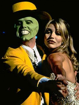Jim Carrey and Cameron Diaz in The Mask....her first movie of her career.