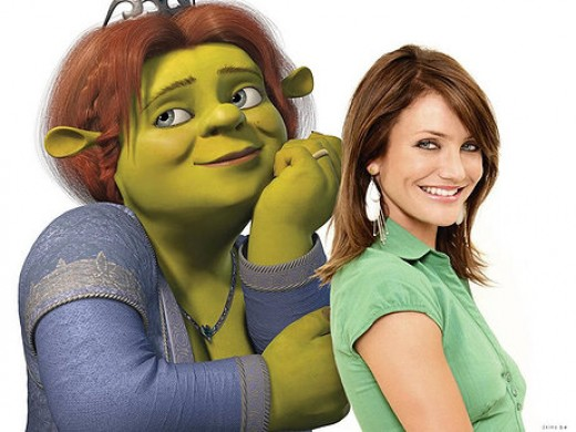 Cameron Diaz provides the voice for Princess Fiona in the very successful Shrek franchise.
