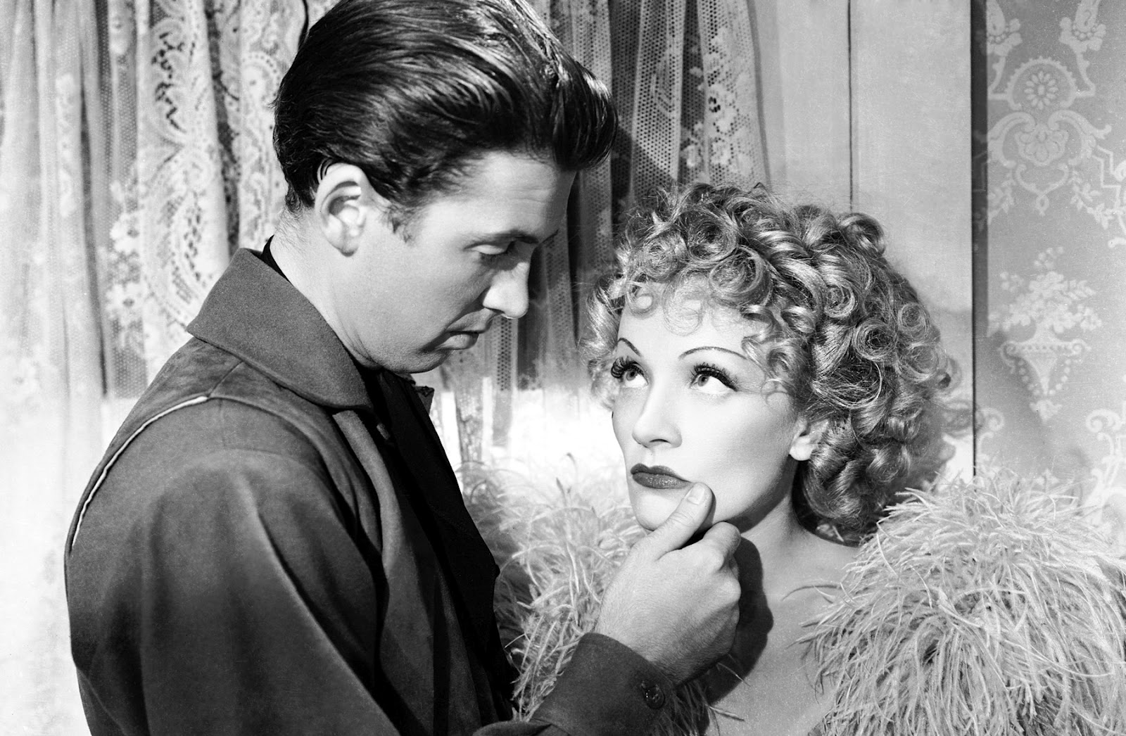 James Stewart and Marlene Dietrich in 1939's Destry Rides Again