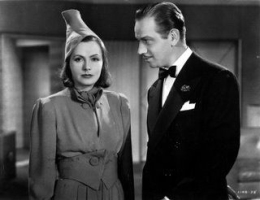 Greta Garbo and frequent co-star Melvyn Douglas in 1939's Ninotchka