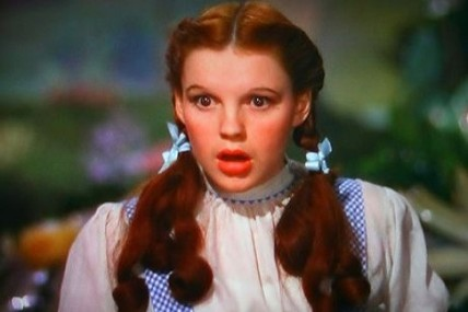Judy Garland in 1939's The Wizard of Oz. She received a special Oscar® for her role as Dorothy.