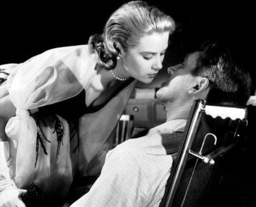 Grace Kelly and James Stewart in 1954's Rear Window