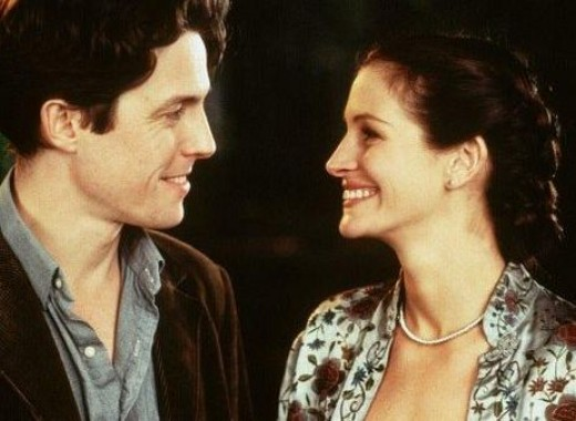 Hugh Grant and Julia Roberts in 1999's Notting Hill.