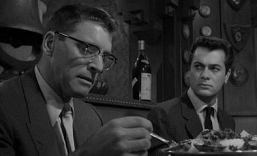 Burt Lancaster and Tony Curtis in 1957's Sweet Smell of Success