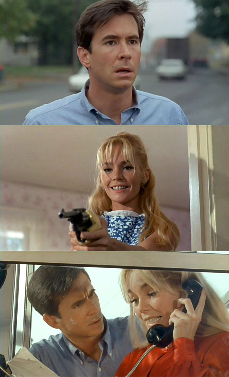 Anthony Perkins and Tuesday Weld in 1968's Pretty Poison....a cult classic....that got ignored back in the 1960s.