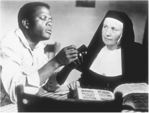 Sidney Poitier and Lilia Skala in 1963's Lillies of the Field