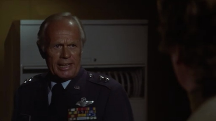 Richard Widmark in 1978's The Swarm...yes it is a bad movie....but it is one of my favorite guilty pleasures.