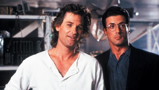 Kurt Russell and Stallone in 1989's Tango Cash
