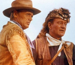 Richard Widmark and John Wayne in 1960's The Alamo