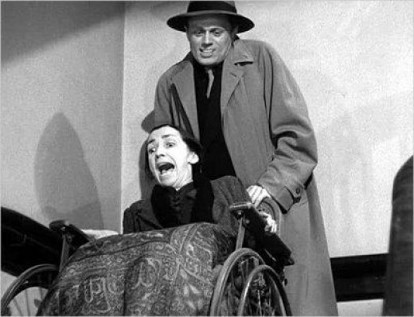 Richard Widmark and Mildred Dunnock in 1947's Kiss of Death