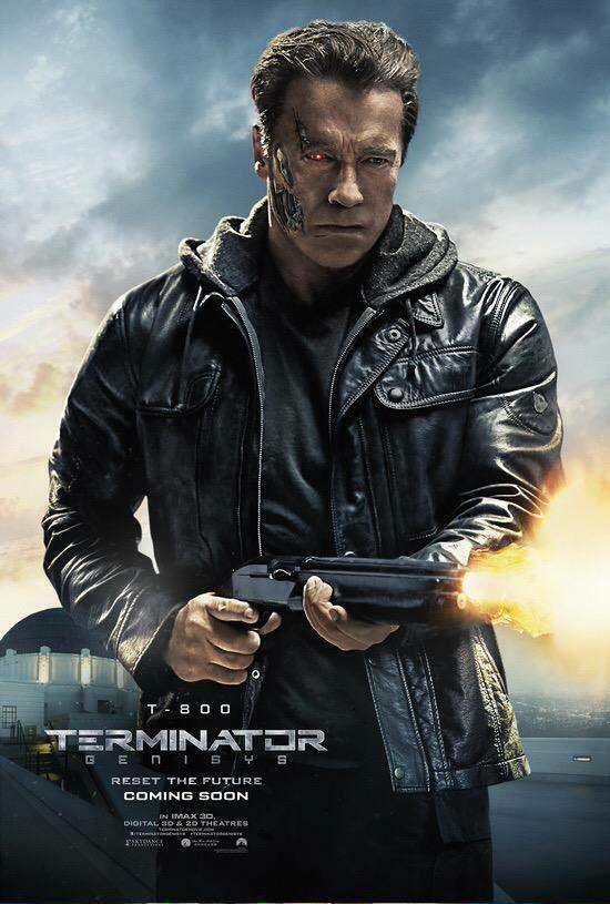He came back....just like he said in would all the way back in 1984...as he returns in 2015's Terminator Genisys.