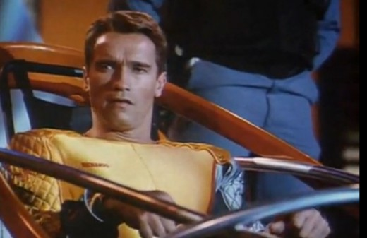 Arnold Schwarzenegger in 1987's The Running Man