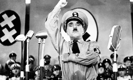 Charlie Chaplin in 1940's The Great Dictator