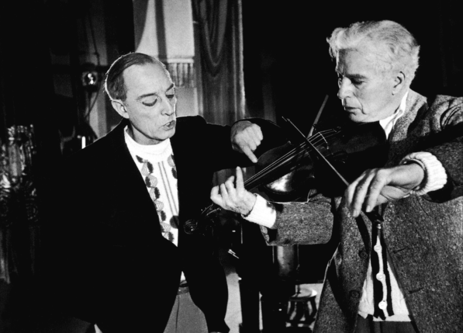 Buster Keaton and Charles Chaplin in 1952's Limelight....my favorite Chaplin movie.