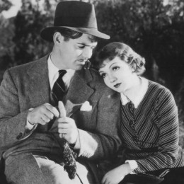 Clark Gable and Claudette Colbert in 1934's It Happened One Night -