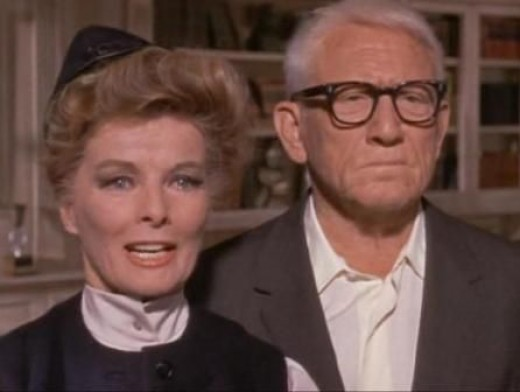 Katharine Hepburn and Spencer Tracy in 1967's Guess Who's Coming To Dinner