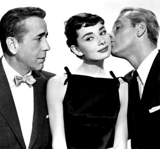 What a cast! Bogart, Hepburn and William Holden in 1954's Sabrina