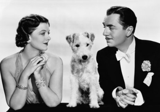 Myrna Loy and William Powell....and do not forget Asta the dog.... in one the best movie series ever...The Thin Man movies...Loy and Powell appeared in 14 movies together
