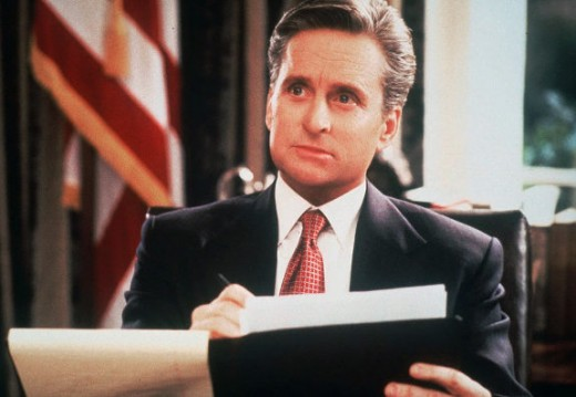 Michael Douglas in 1995's The American President....one of my wife's favorite movies.