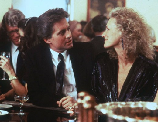 Michael Douglas and Glenn Close in 1987's Fatal Attraction