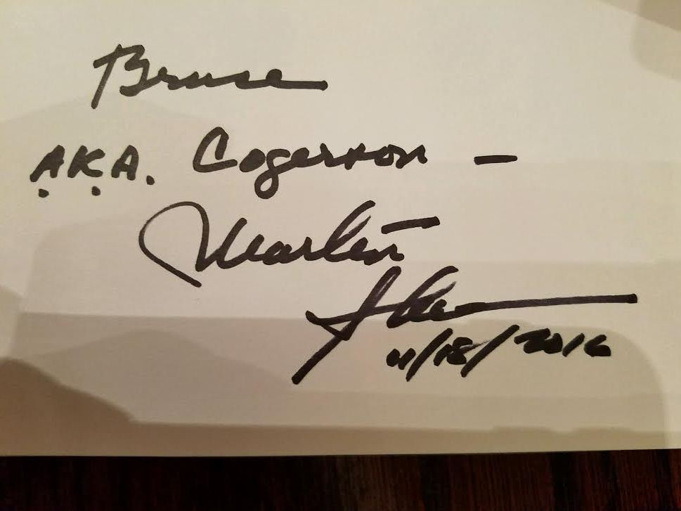 Thanks to my wife....I have this Martin Sheen autograph
