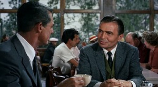 Cary Grant and James Mason in 1959's North by Northwest