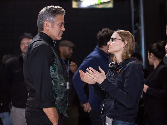 Jodie Foster directing George Clooney in her latest movie....Money Monster