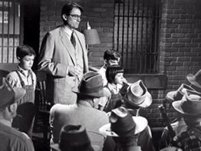 Gregory Peck as Atticus Finch in his # 1 movie To Kill A Mockingbird