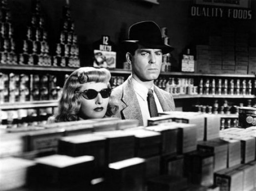 Barbara Stanwyck and Fred MacMurray in 1944's Double Indemnity