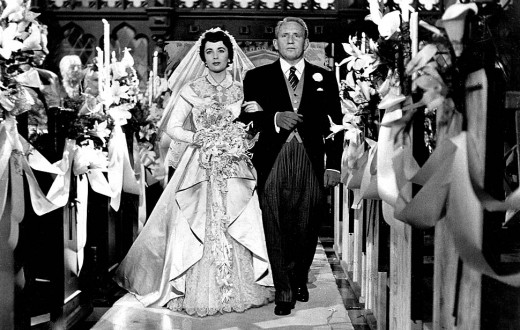 Elizabeth Taylor and Spencer Tracy in 1950's Father of the Bride