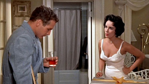 Paul Newman and Elizabeth Taylor in 1958's Cat On A Hot Tin Roof