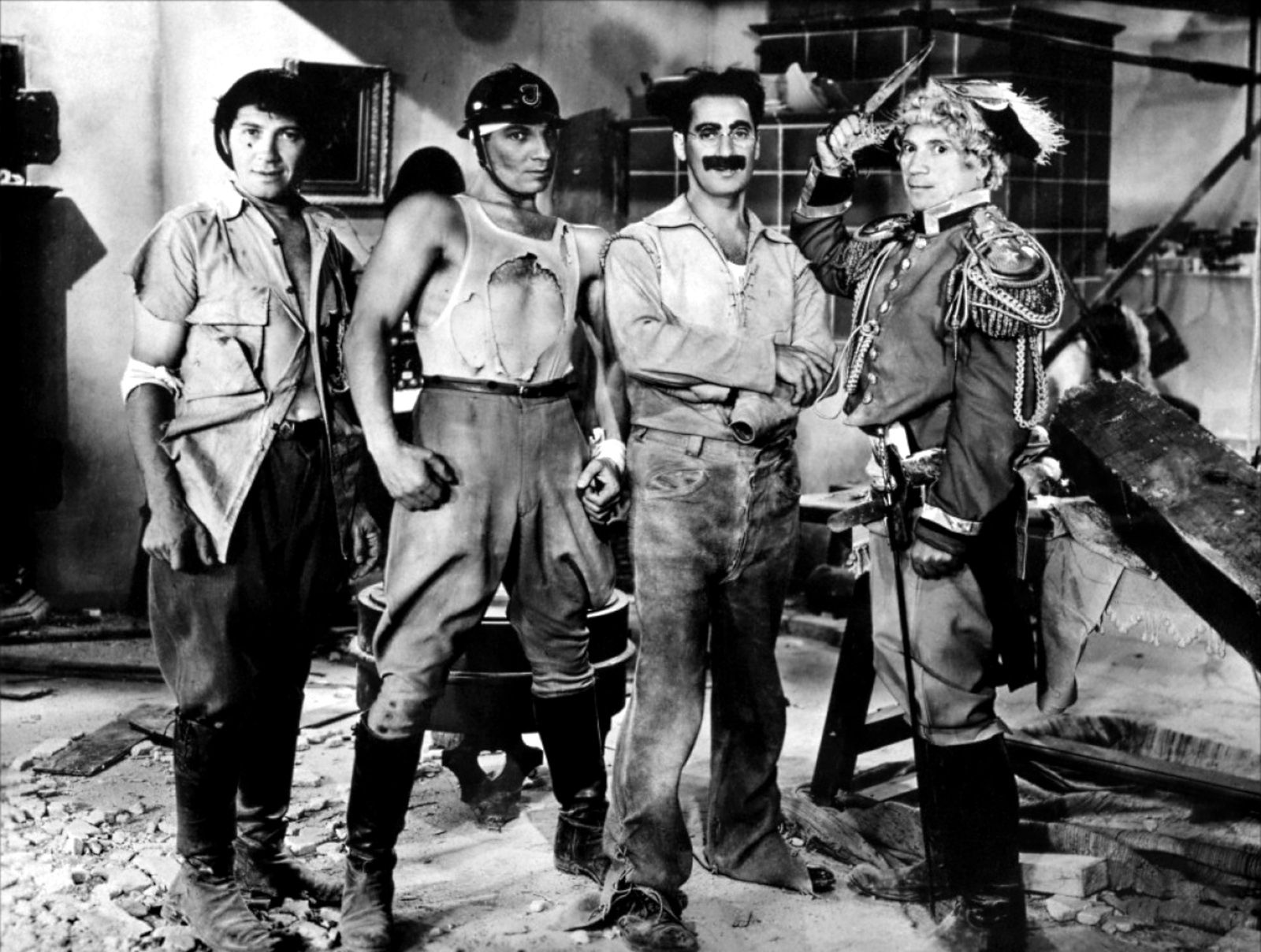 The Marx Brothers in 1935's Duck Soup.